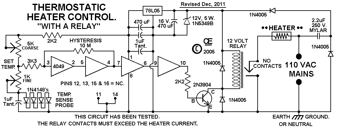 Electric Heater Thermostat Under Repository Circuits