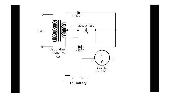 DIY Circuit Car Battery Charger - schematic