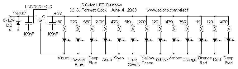 13 Color LED Rainbow - schematic