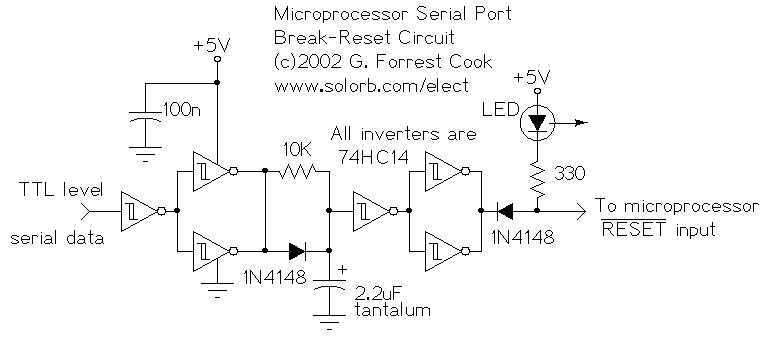 Microprocessor RS-232 Reset - schematic