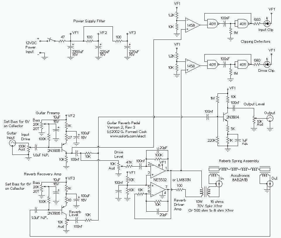 Guitar Reverb Effect - schematic