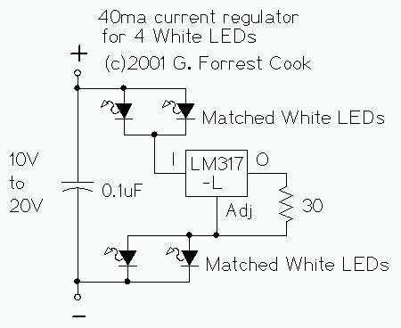 Regulated LED Lamp - schematic