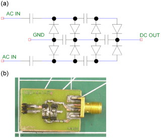 Experimental studies of using wireless energy transmission for powering embedded sensor nodes - schematic