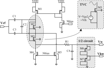 A reliable demodulator and a power regulation circuit with an accurate in UHF RFID - schematic