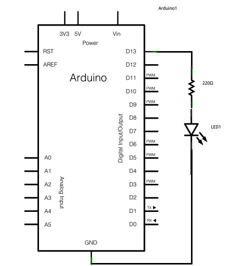 Arduino Blink - schematic