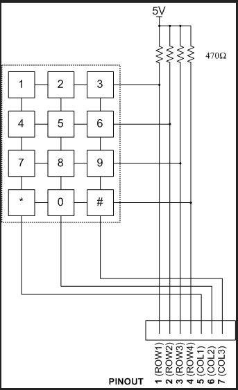 Keyless Entry Arduino - schematic
