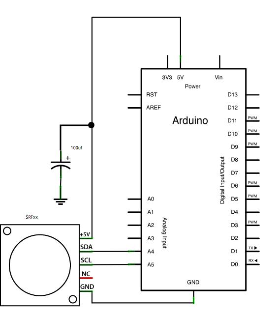 Arduino SFR Ranger Reader - schematic