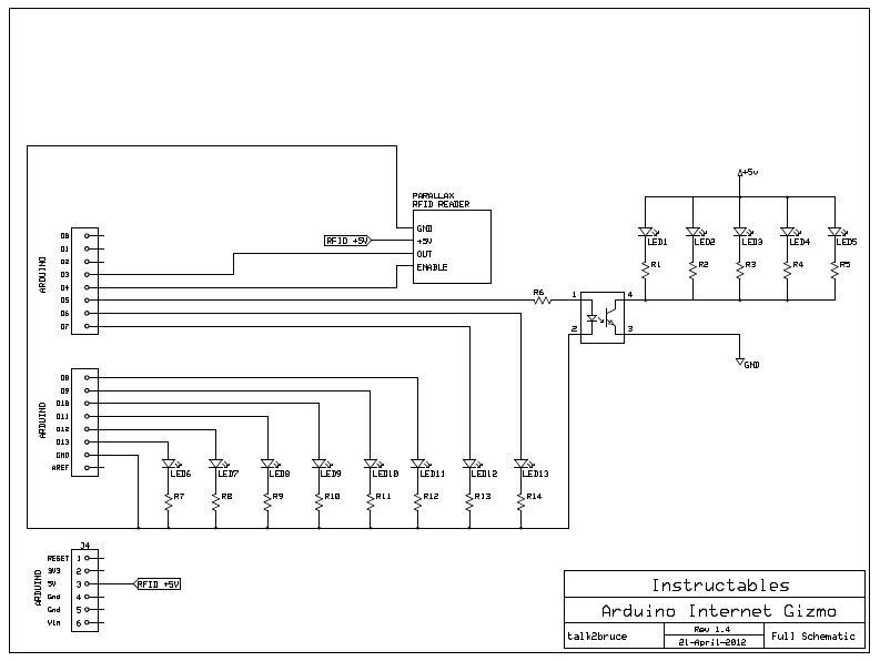 The Arduino Internet Gizmo - schematic