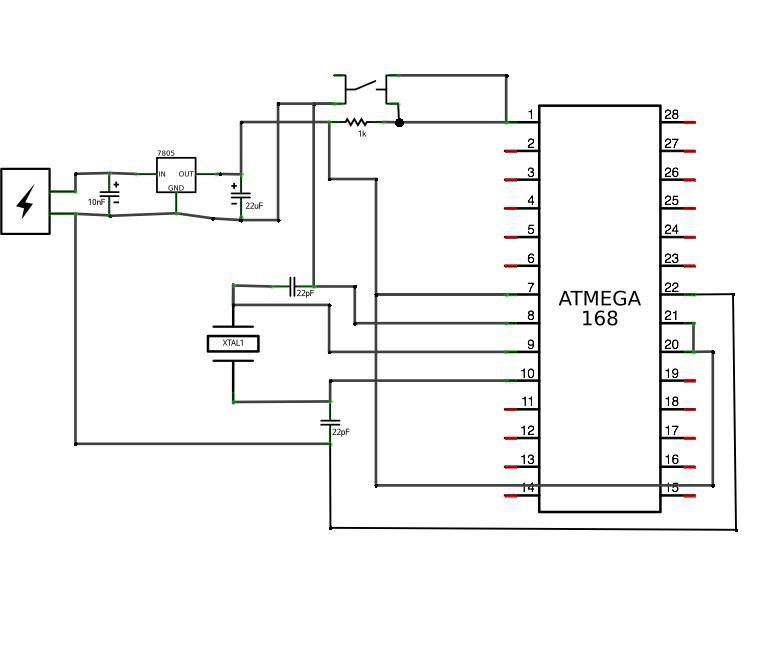 Perfboard Hackduino Arduino-compatible circuit - schematic