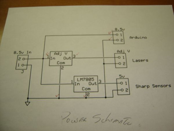 Theremin with ZapperlaserArduino - schematic