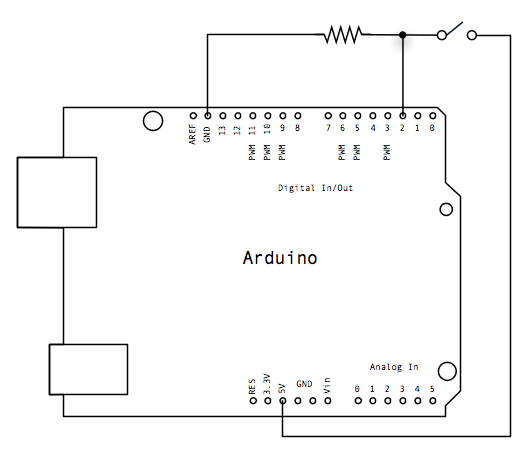 Arduino Button - schematic