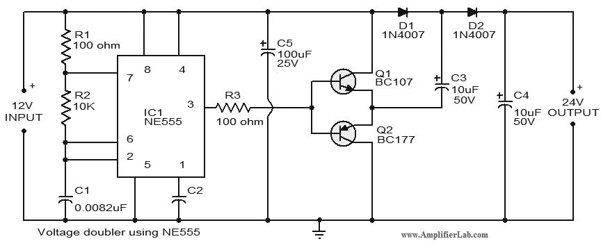 Voltage Doubler Circuit - schematic