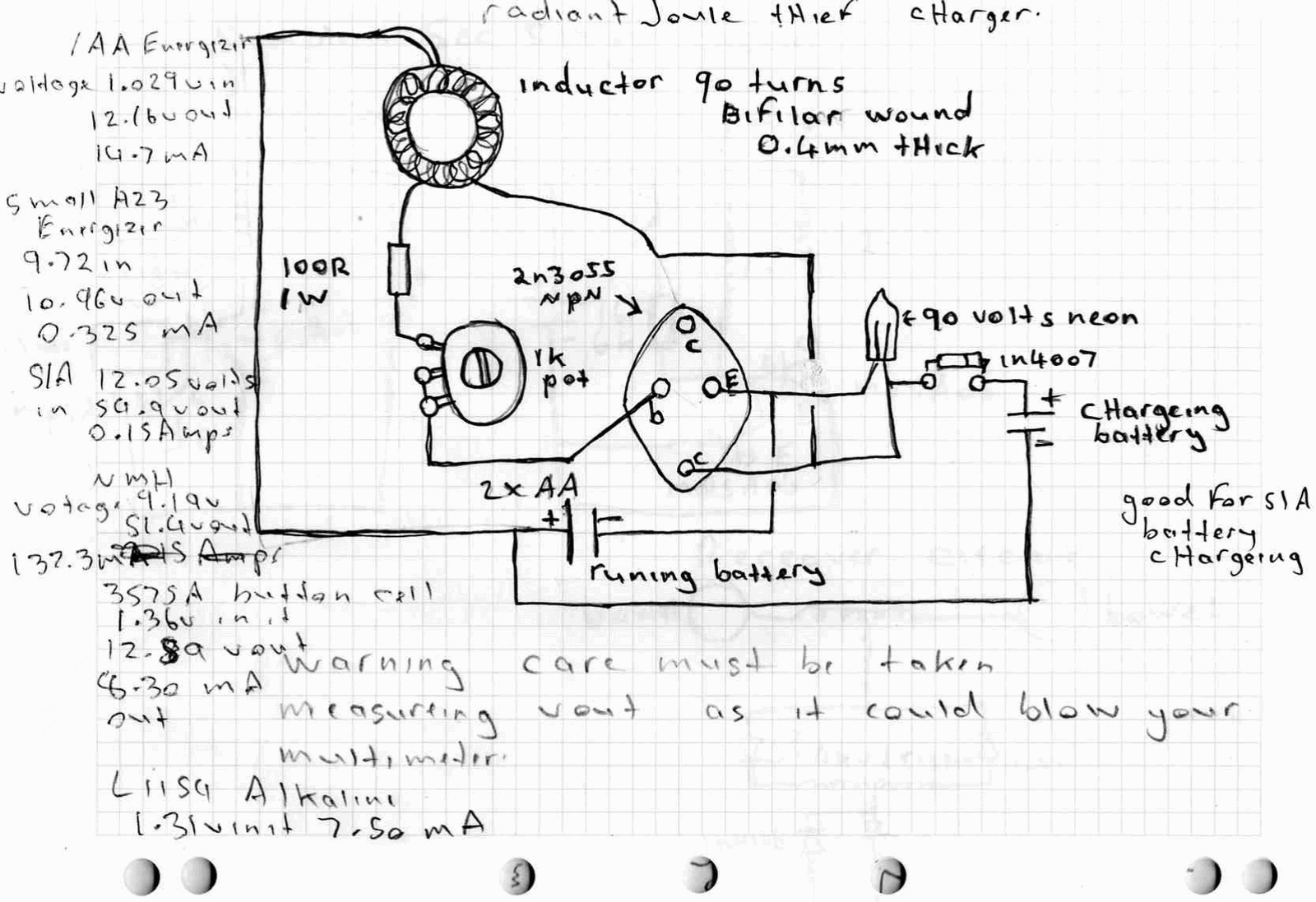 Free Energy Circuit Page 4 Power Supply Circuits Pure Sine Wave Generator On Bug Zapper Schematic Diagram Making A Joule Thief
