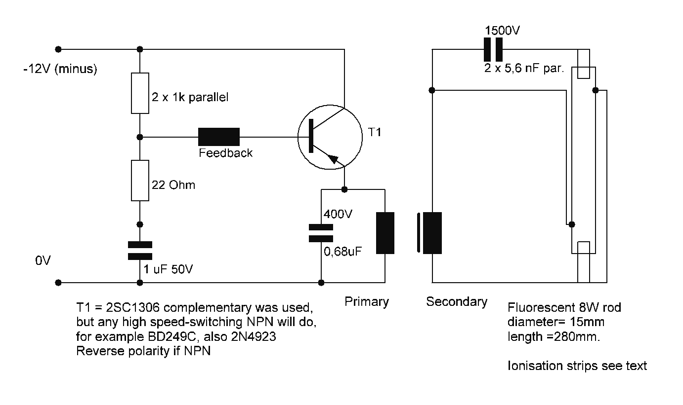 Diagram Fluorescent Lamp Driver Circuit And Project