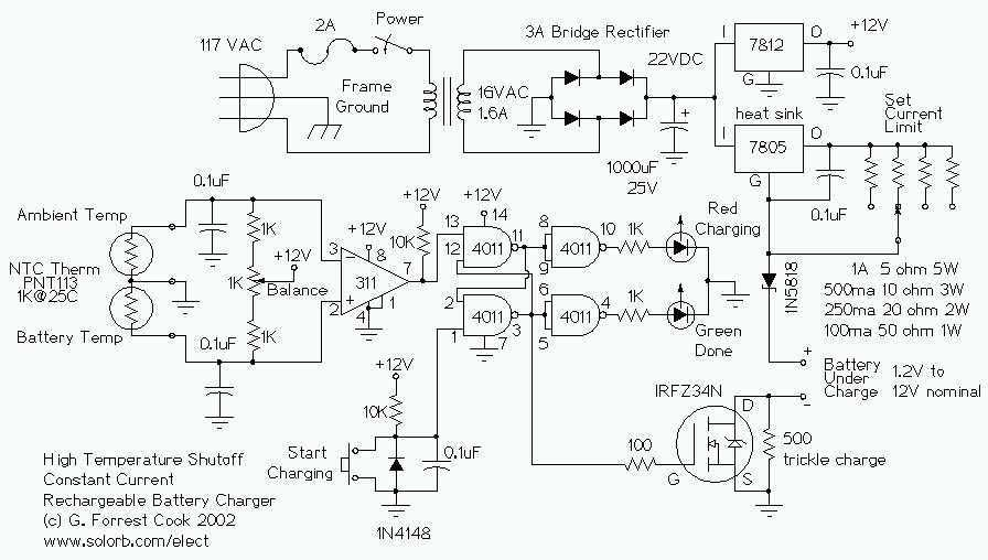 Temperature Controlled NICD Charger - schematic