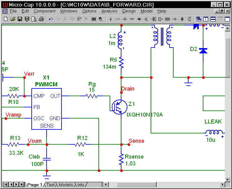 Micro-Cap 9 - schematic
