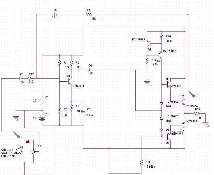 15 Watt Amplifier - schematic