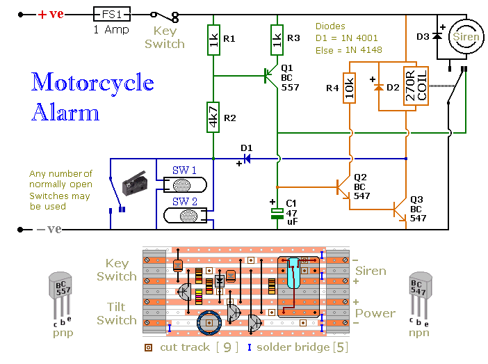 Motorcycle Alarm - schematic