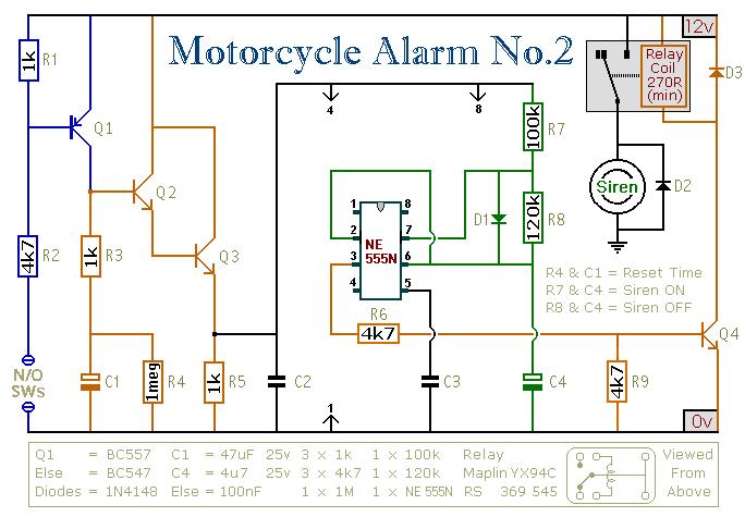 Motorcycle Alarm schematic - schematic