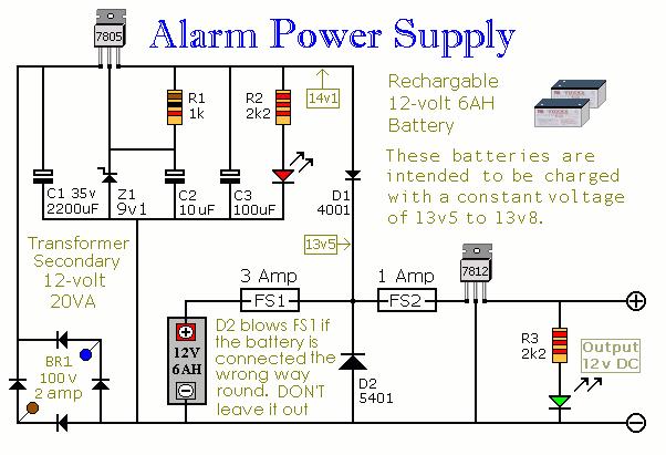 Alarm Power Supply - schematic