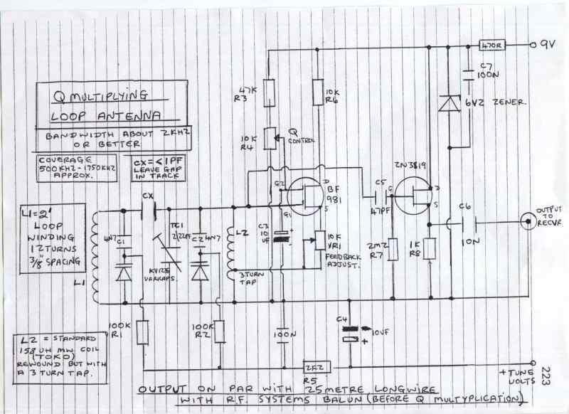 Q-Multiplying Loop Antenna - schematic