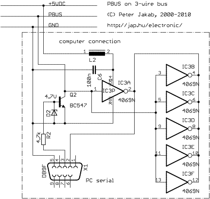 RS485-like multi-drop bus - schematic