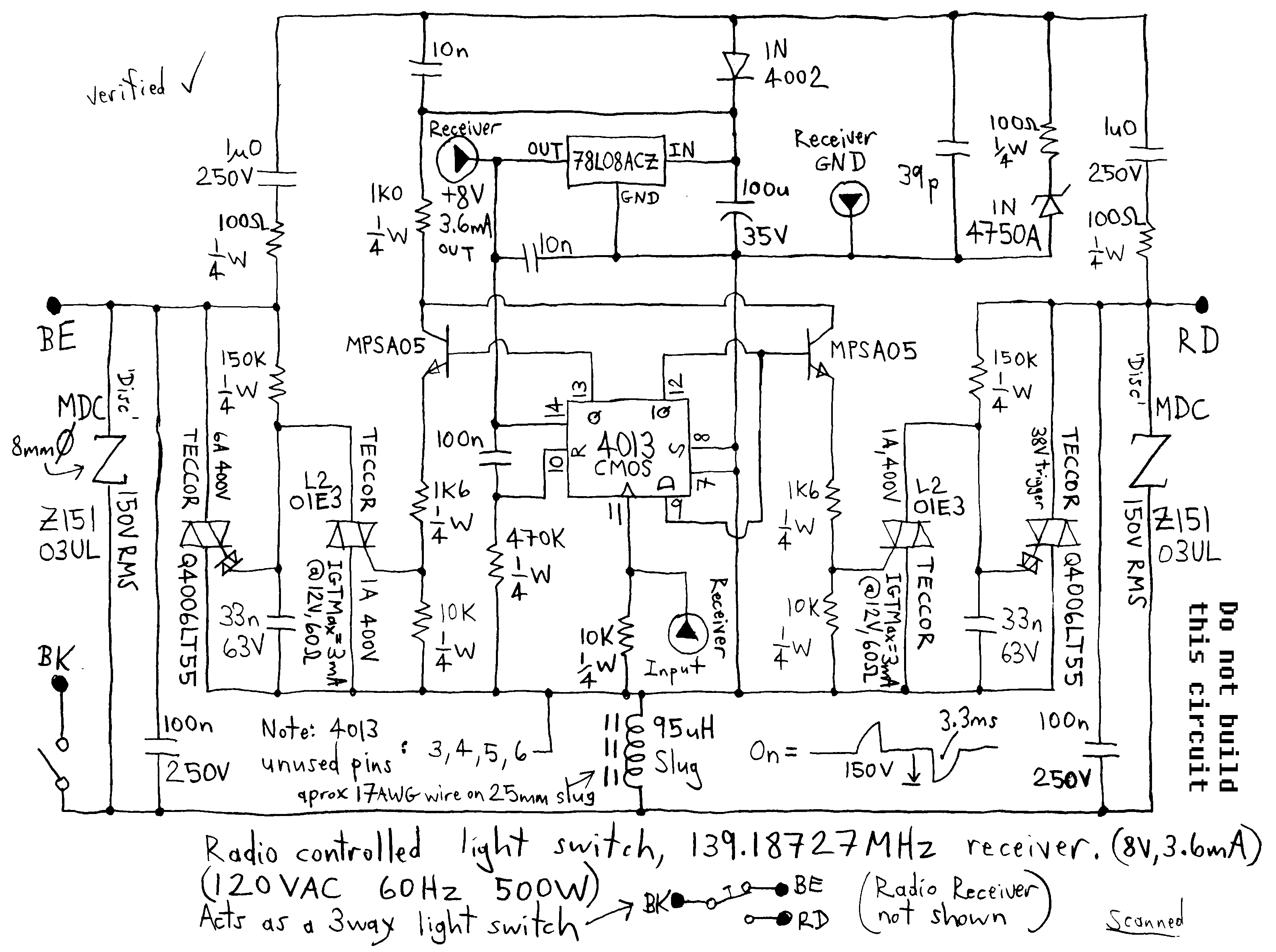 Triac Circuit Page 5 Other Circuits Next Gr