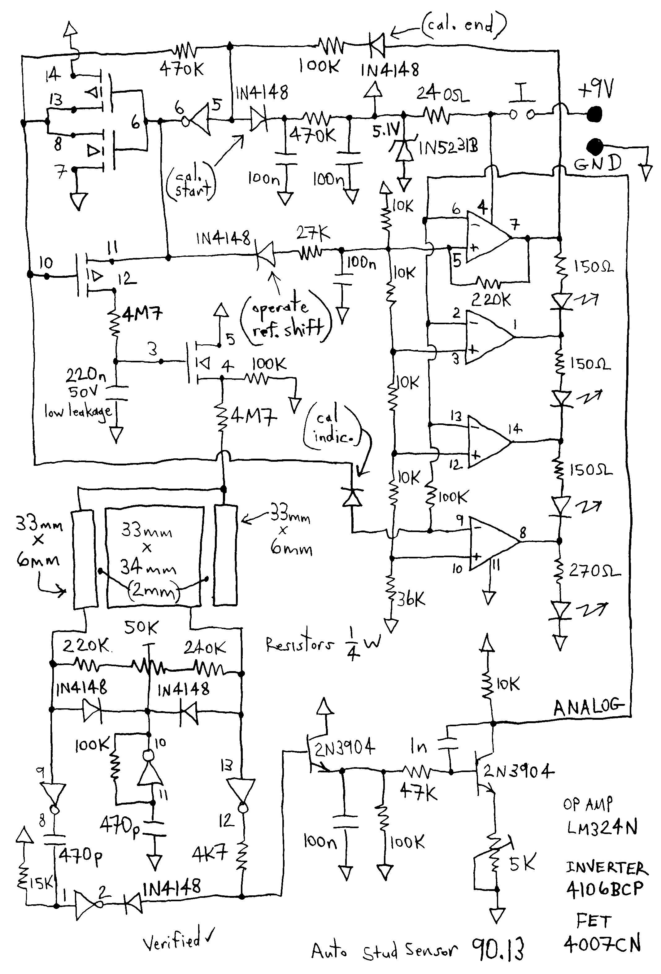 auto stud sensor under sensor circuits