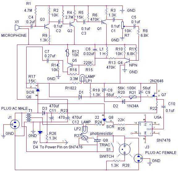 Whistle Switch - schematic