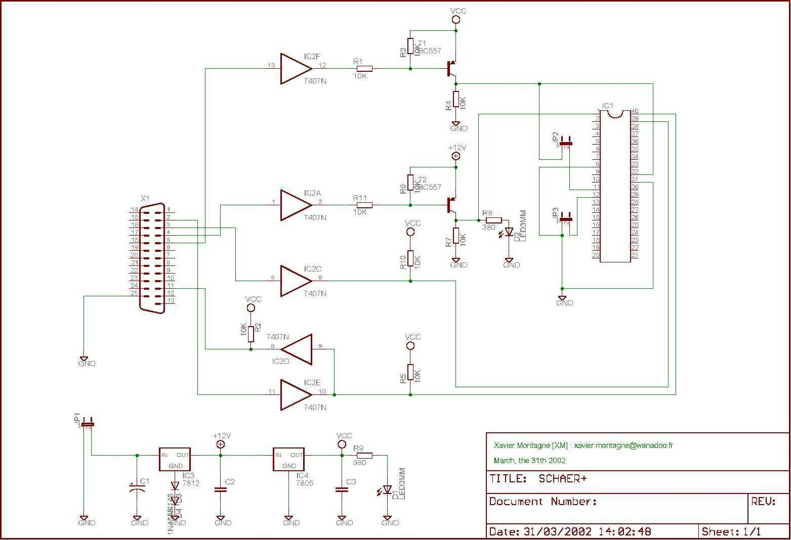 PIC18 programmer - schematic