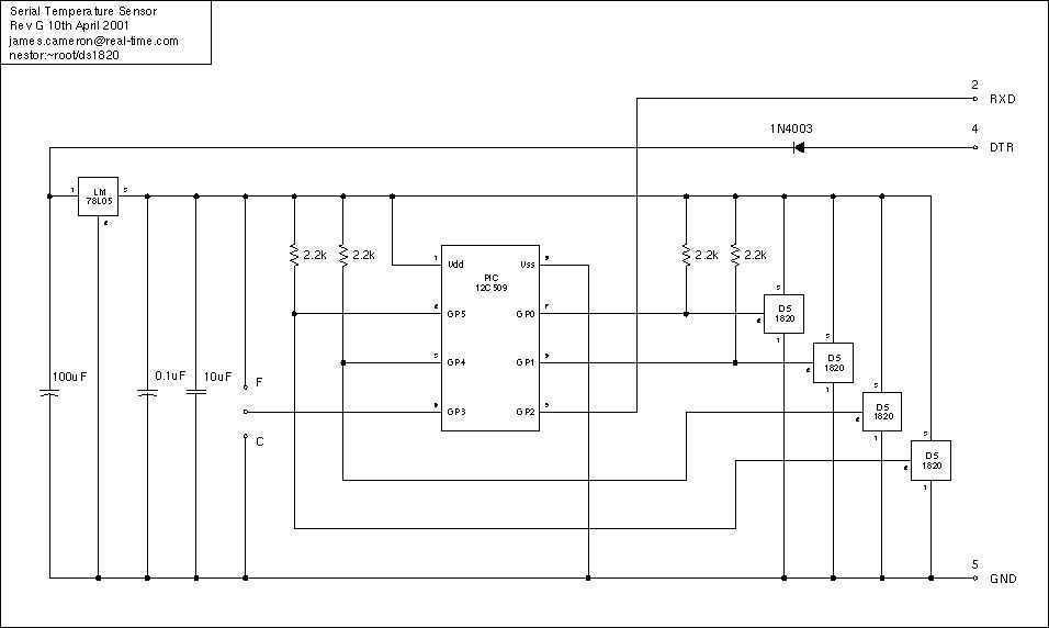 Temperature Sensor Project - schematic