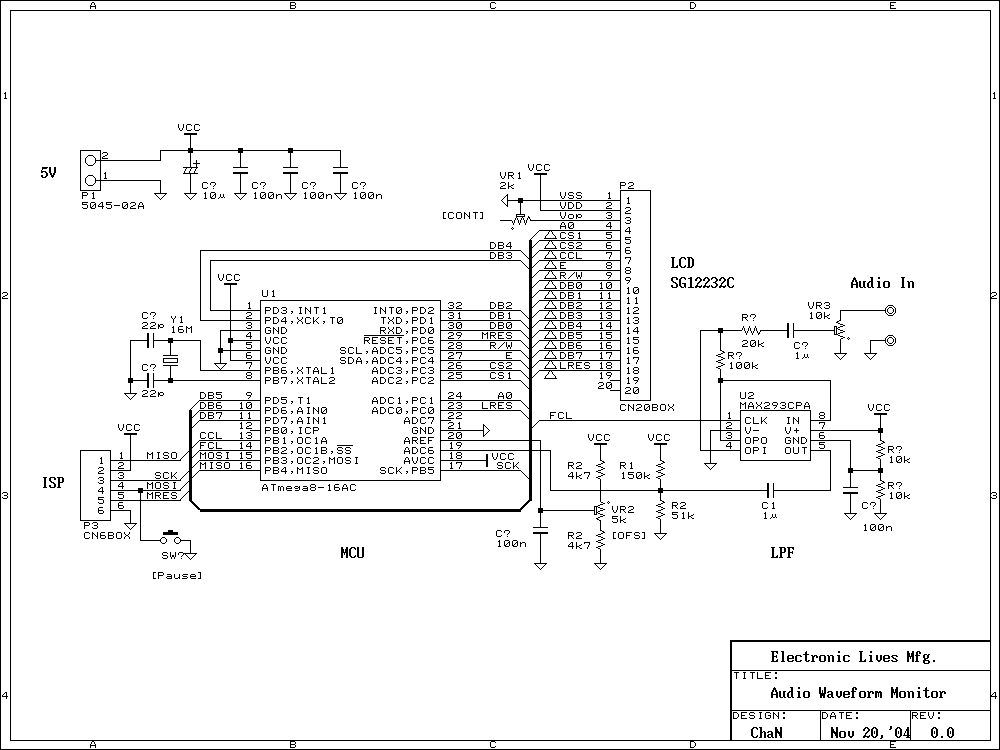 Audio Spectrum Monitor - schematic