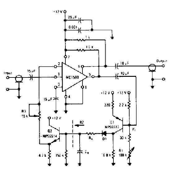 Audio compressor circuit