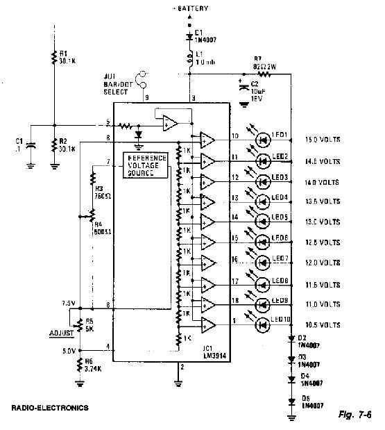 Car Voltmeter Circuit