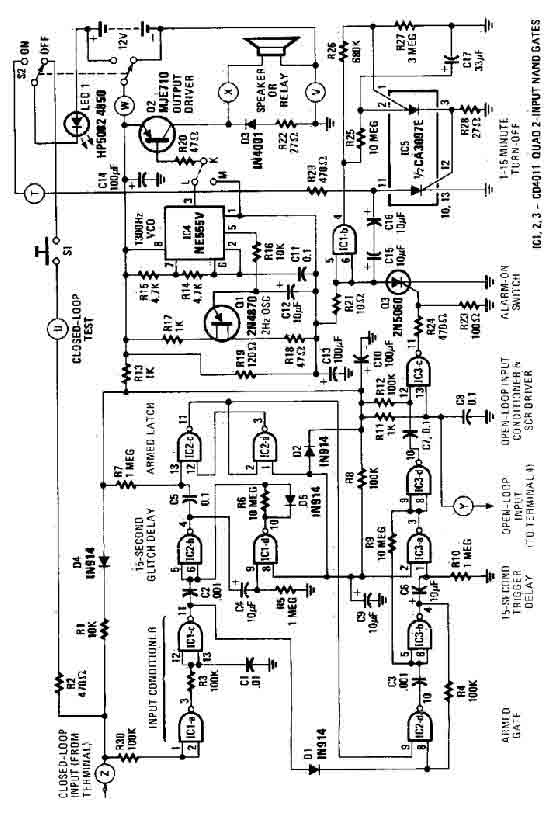 Simple House Alarm circuit