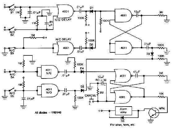 House Alarm Loop Circuit