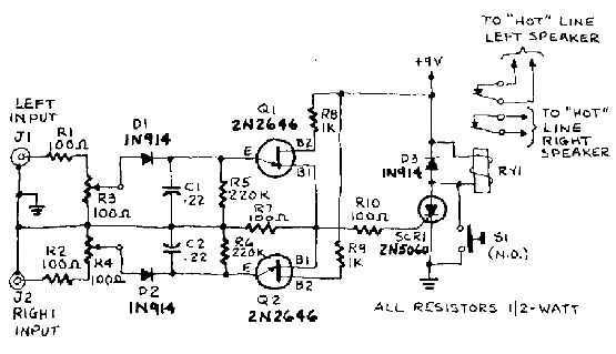 Overload speaker protection circuit