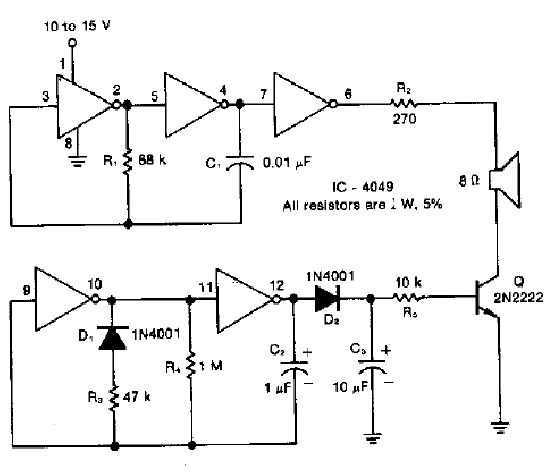 Chime Circuit with 4049