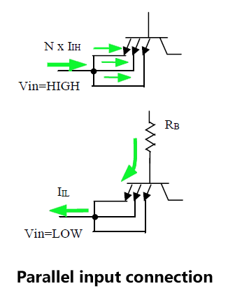 Parallel input connection